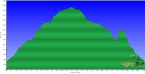 Perfil de la ruta Los Gigantes-Tamaimo-Santiago del Teide