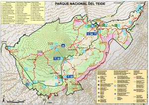 Red de senderos del Parque Nacional del Teide