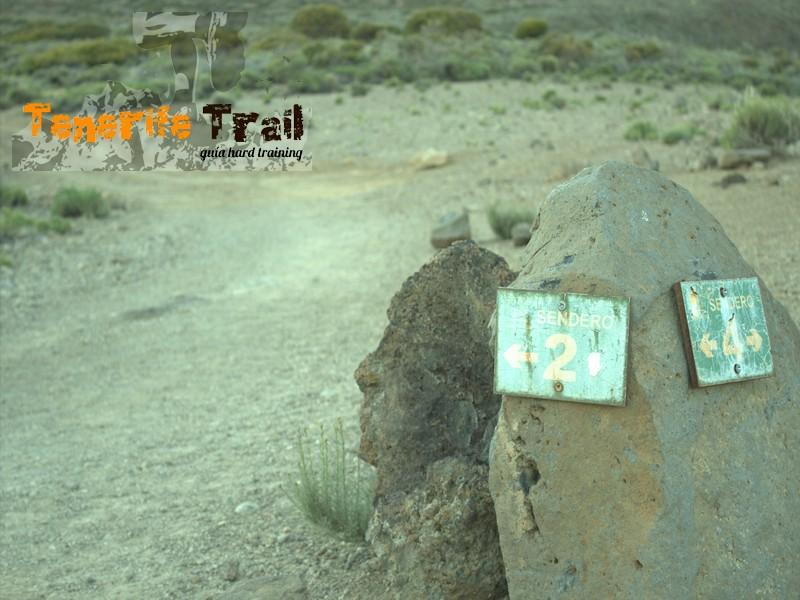 Parque Nacional detalle desvío senderos 2 y 4