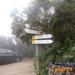 cartelería al lado de la casa forestal (casa de la cumbre)