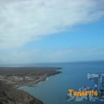 Detalle al fondo del Faro (donde nos dirigimos) y la urbanización El Palmar