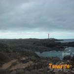 Detalle del sendero por la costa