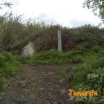 Punto crítico sendero de Las Vueltas a la derecha dirección a La Cumbrill