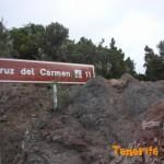 Detalle acceso sendero en el km12 hacía el Bailadero