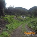 Destino a una pista asfaltada y posterior carretera de Afu