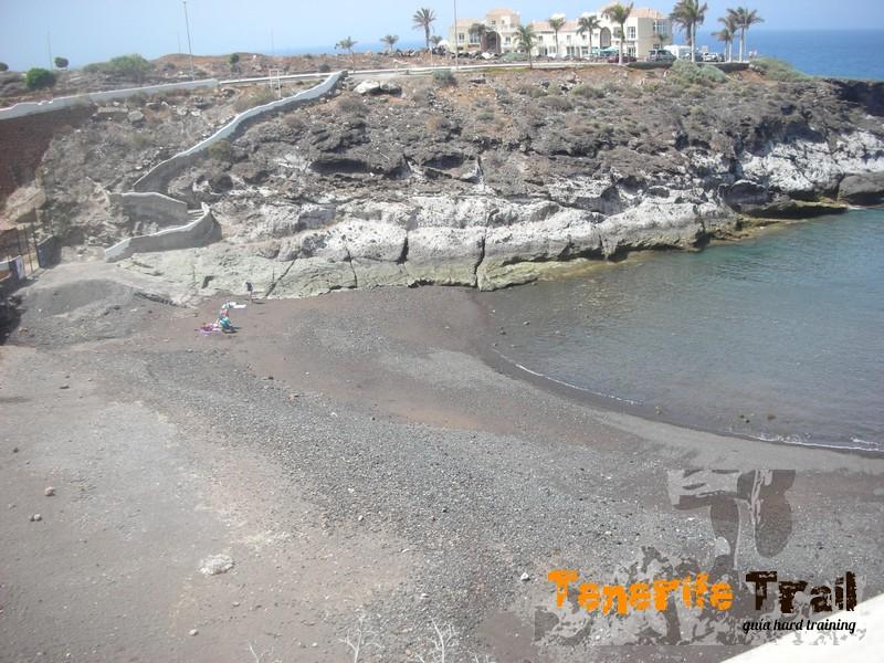 Siguiendo la ruta por la costa todavía en Playa Paraiso