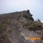 Puntos característicos de esta parte de la ruta ascenso Roque (círculos azules)