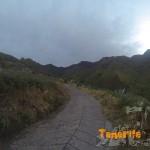 Pista en Los Palmitos (km 4 aprox. e inicio del sendero)