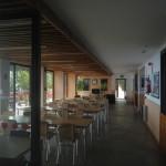 Detalle zona de bar del Albergue