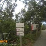 Detalle del Mirador y señalización al Roque de Taborno